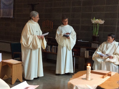 Formal Reception of Sr Gertrude into the Cistercian (OCSO) Order