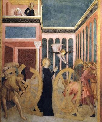 Saint Catherine of Alexandria (c.4th century), Blessed Virgin Mary
